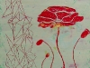 Red Poppy with Lines