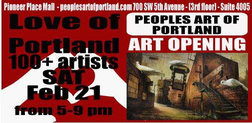 Love of Portland '15 show card